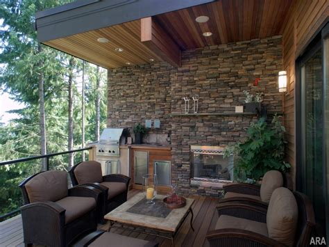 Outdoor Living Ideas, Outdoor Living Spaces With Fireplace