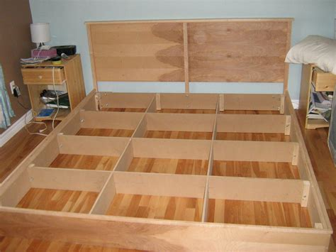 easy cheap diy hardwood king platform bed plans