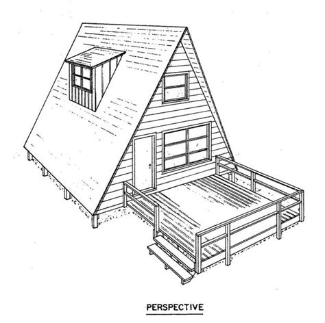 a frame cabin floor plans free a frame house plan with deck