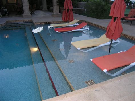 Tilting Bathroom Wall Mirrors by Luxurious Desert Oasis Mediterranean Pool San Diego
