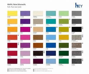 Farben Schöner Wohnen Farbpalette : hey sign filz farbpalette filz ~ Bigdaddyawards.com Haus und Dekorationen