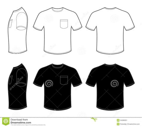 pocket t shirt template mans t shirt with pocket stock vector illustration of clothes 54580051