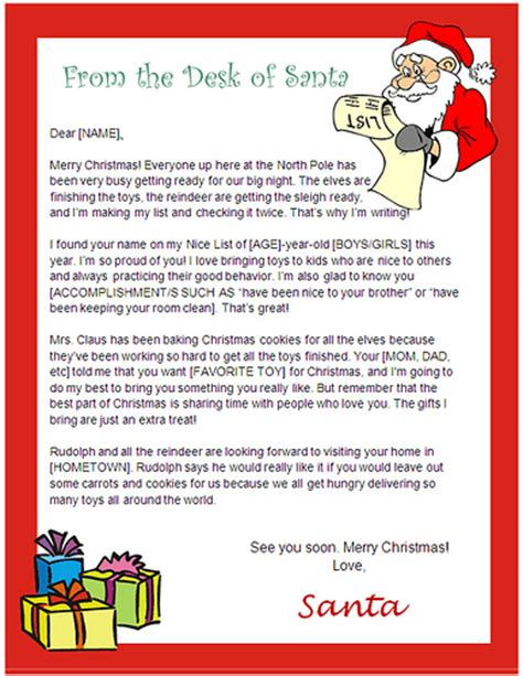 santa letter template word doc santa letter templates