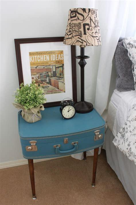 nachttisch selber machen 27 ideen wie den alten koffer wieder benutzen kann wohnideen und dekoration