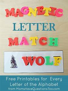 teaching the alphabet with magnetic letter match printables With magnetic letter printables