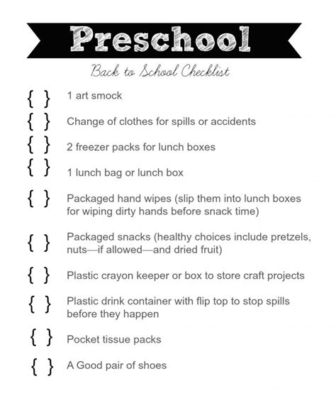 lists and checklists archives clutter 615 | Preschool Back to School Checklist 819x1024