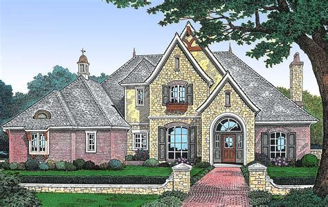 european house plans european house plan with two story family room 48090fm