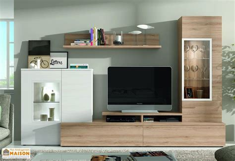 ensemble meuble tv design mural dublin 300x195cm ramis