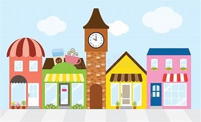 Mall Shopping Street Business Center Strip Illustration