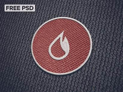 Mockup Embroidery Psd Patch Cloth Photoshop Fabric