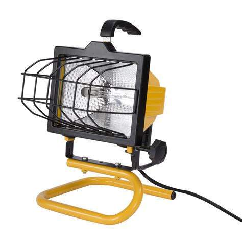 portable halogen work light shop utilitech 1 light 500 watt halogen portable work