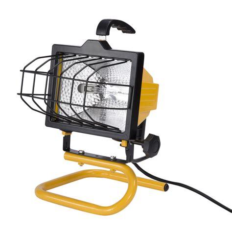 portable halogen work light shop utilitech 1 light 500 watt halogen portable work