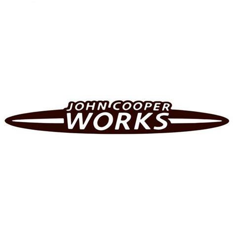John Cooper Works Logo Decal Sticker Decalfly