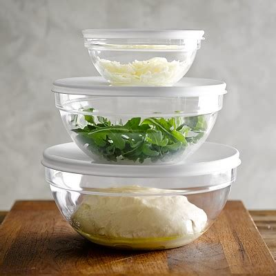 glass bowls with lids glass mixing bowls with lid set of 3 williams sonoma 3764