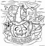 Halloween Coloring Cauldron Printable Pumpkin Spooky Activities Printablee Daily sketch template