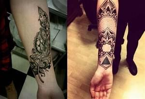 Tattoo Feder Unterarm : filigraner feder und mandala motive als unterarm tattoos tattoo pinterest tattoo ideen ~ Frokenaadalensverden.com Haus und Dekorationen