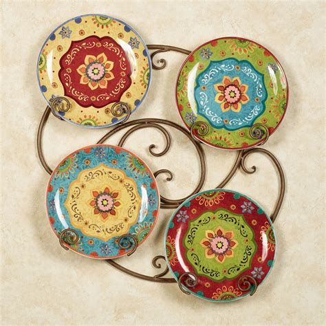 tunisian sunset ceramic dinner plate set