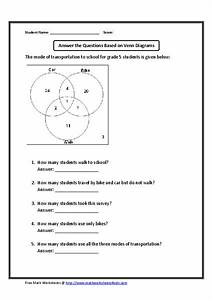 Answer The Questions Based On Venn Diagram Worksheet For