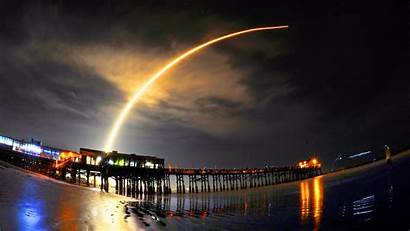 Spacex Rocket Launch Drone Ship Pier Canaveral