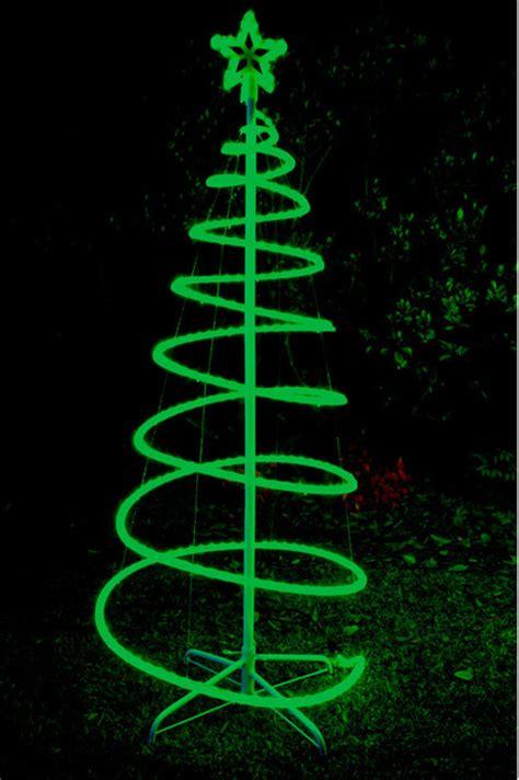 cm green solar led spiral xmas tree rope light