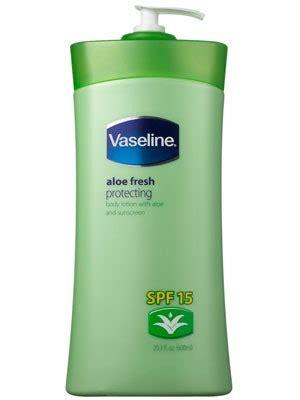 vaseline aloe fresh protecting spf  review allure