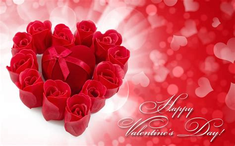 Happy Valentine's Day Hearts Flowers