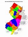 Printable New Jersey Zip Code Map
