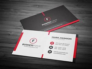 Scarlet red creative business card template free for Free creative business card templates