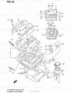 Suzuki Motorcycle 2000 Oem Parts Diagram For Cylinder Head