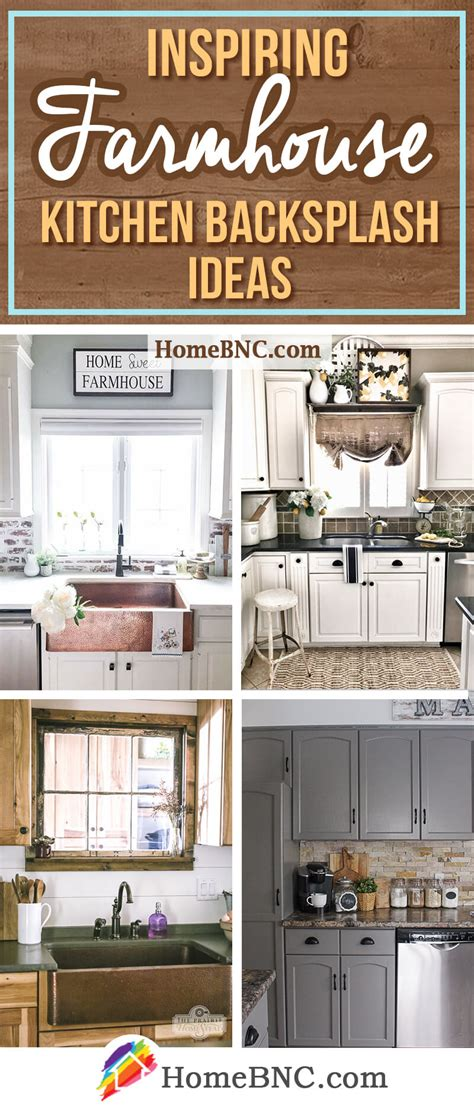 Decorating Ideas For Kitchen Backsplashes by 8 Best Farmhouse Kitchen Backsplash Ideas And Designs For 2019