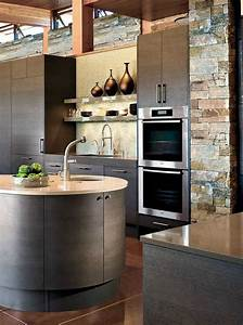 deco pierre pour les murs de la cuisine en 49 exemples With decoration de mur de cuisine