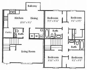 four bedroom house plans or by perfect simple floor plans With 4 bedroom architectural floor plans