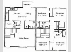 Basham Rentals 204 S Salisbury St 4 Bedroom Floor Plan