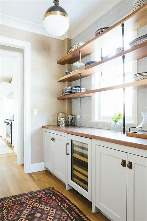 islands for kitchens for chic butler s pantry features a hicks pendant illuminating 7604