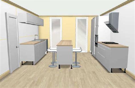 id implantation cuisine quel pour cuisine en parallle with plan pour fabriquer un