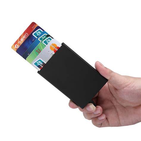 dompet kartu slim slider aluminium g882 black
