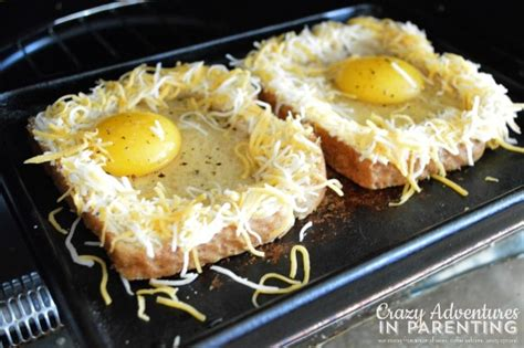 cook eggs in toaster oven cheesy baked egg toast adventures in parenting