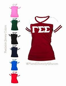 gamma sigma sigma jersey with greek twill letters shirts With sorority twill letter shirts