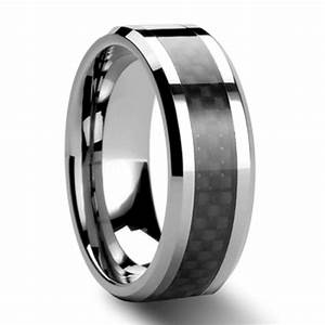 black carbon fiber tungsten carbide ring mens wedding band With tungsten carbide mens wedding rings
