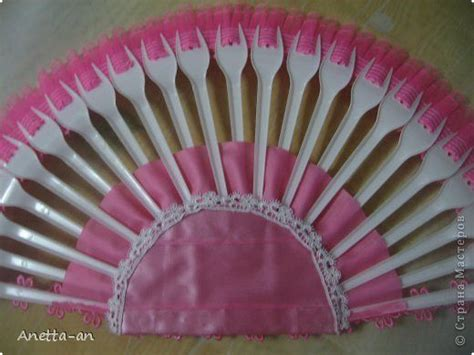 diy decorative fan  plastic forks
