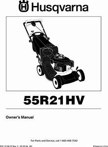 Husqvarna 55r21hvd User Manual Lawn Mower Manuals And