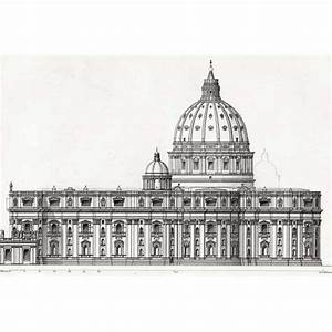 Rome, St Peter's Basilica, Side Elevation - BRITTON-IMAGES