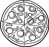 Pizza Coloring Printable According Foods Perfect Lessons sketch template