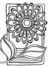 Flower Abstract Coloring Pages Printable Flowers Adults Pattern Patterns Clipart Doodle Adult Colouring Zenspirations Create Drawings Books Finished Sheets Easy sketch template