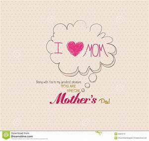Mothers Day Poster With Bubble Card Stock Vector - Image ...