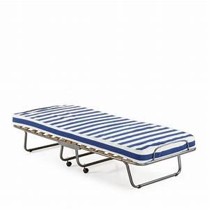 lit pliable avec matelas 80 x 190 jamaica par drawerfr With tapis de marche avec matelas canape pliant