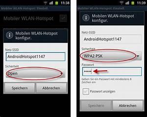 Mobiler Wlan Hotspot : android handy als mobilen wlan hotspot nutzen ~ Jslefanu.com Haus und Dekorationen
