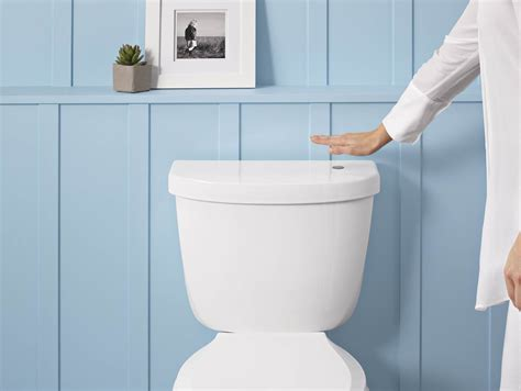 the flushing toilet wave to flush touchless toilet kit for increased bathroom hygiene futura home decorating