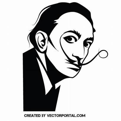 Dali Salvador Vector Illustration Painter Face Vectorportal