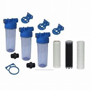 Filtre Eau De Puit : filtration 3 filtres pour eau de forage eau de puits eau ~ Premium-room.com Idées de Décoration